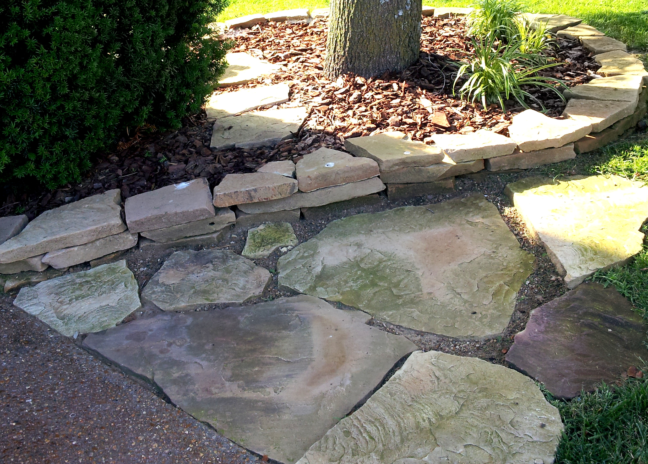 Landscaping With Rocks And Pebbles : Nashville tn franklin stone landscaping rocks mulch stones