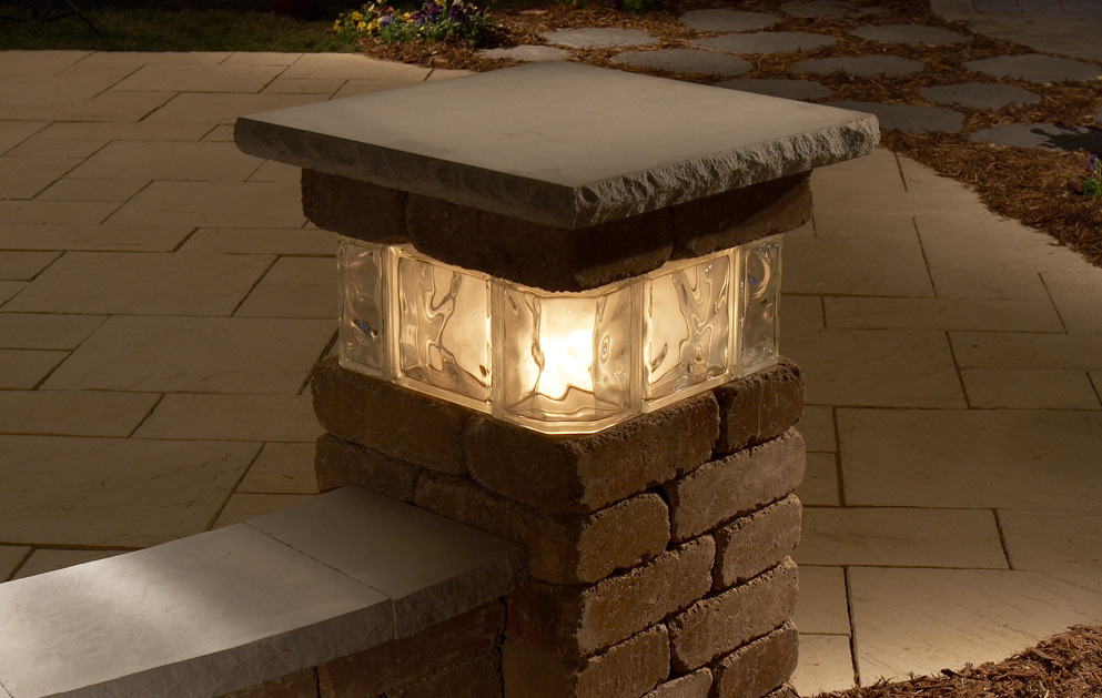 Outside Driveway Wall Lights : Necessories Pillars - Franklin Stone