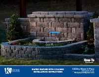 Country Manor 2-pc Water Feature Kit PDF