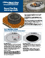 Country Manor 2-pc Round Fire Pit Kit PDF