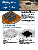 Country Manor 2-pc Square Fire Pit Kit PDF