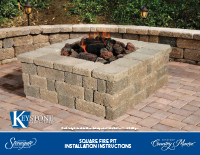 Country Manor 3-pc Square Fire Pit Kit PDF