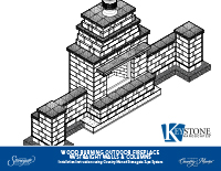 Country Manor 3-pc Fireplace w/Straight Walls Kit PDF