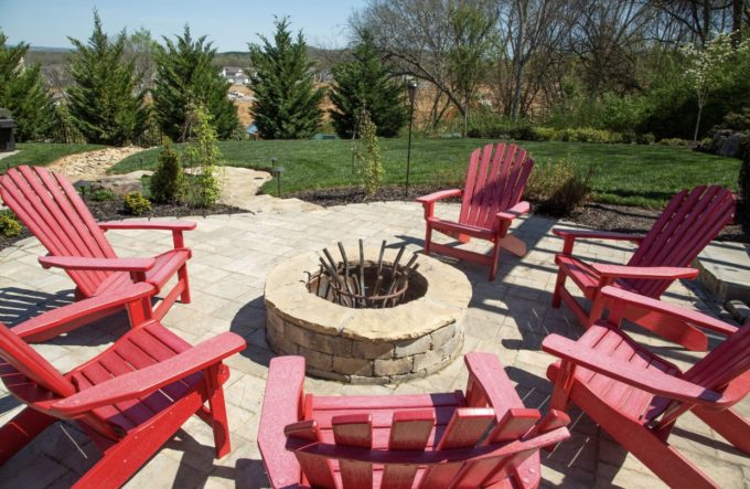 fire pit,patio, patio stone, stone firepit, outdoor fireplace. franklin stone