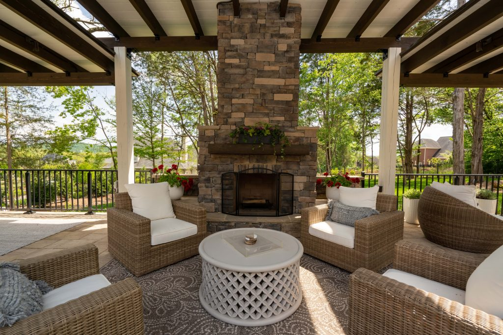 Franklin Stone Outdoor fireplace