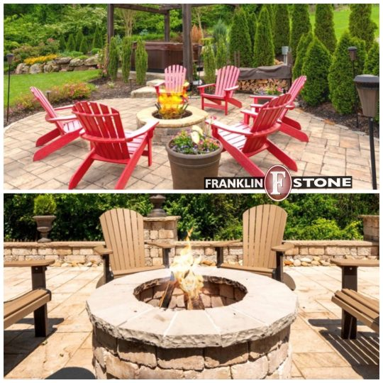 patio, patio stone, stone firepit, outdoor fireplace. franklin stone