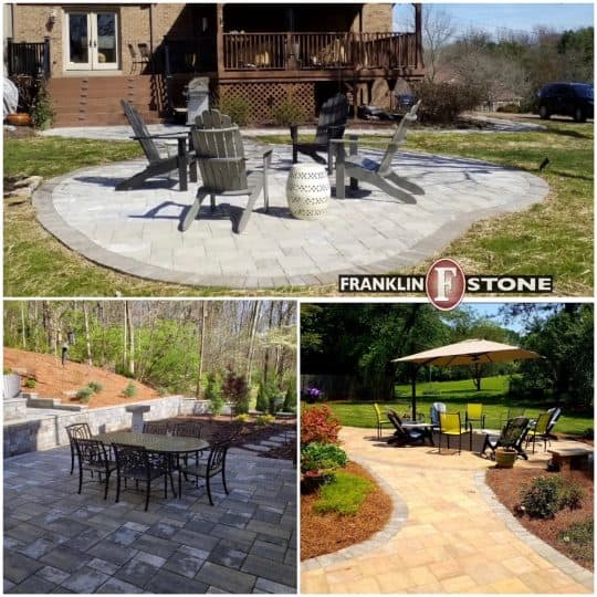 Franklin stone patio middle TN