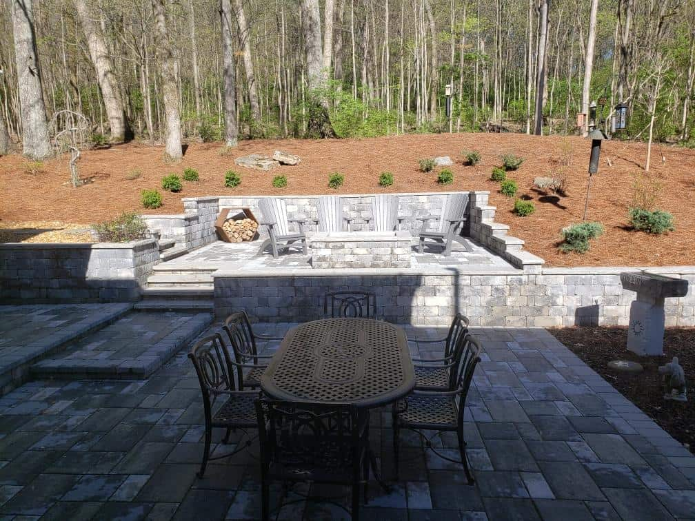 Franklin Stone - outdoor firepit - Patio