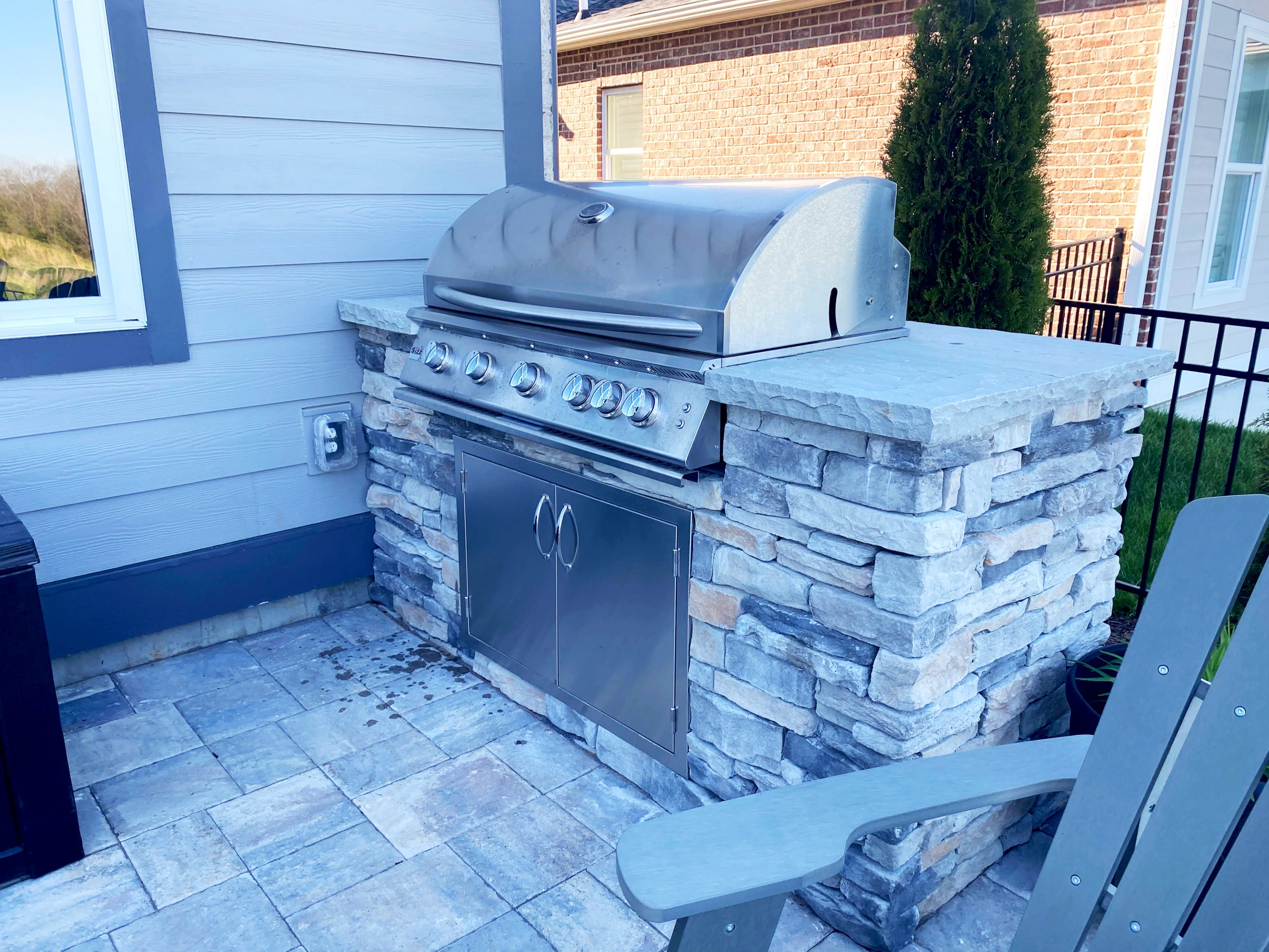 Franklin Stone Firepit Outdoor Fireplace Design Custom Build Grill