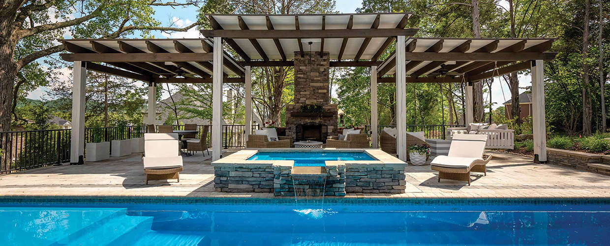 Franklin Stone - Pools - Backyard - Pool Installation - Stone - Construction - Spa
