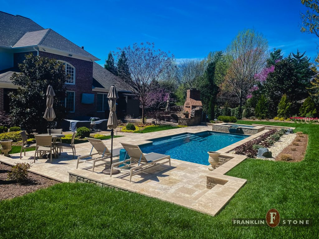 Franklin Stone pool, spa, and outdoor patio furniture