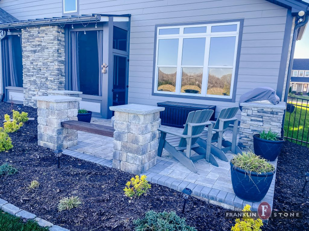 Franklin Stone Patio with Grill