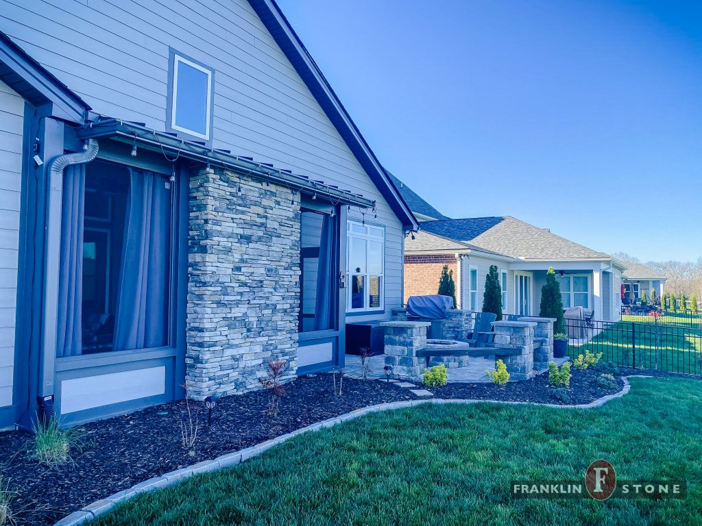 Franklin Stone stone divider and outdoor patio