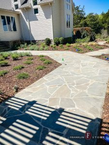 Franklin Stone stone pathway to enter home